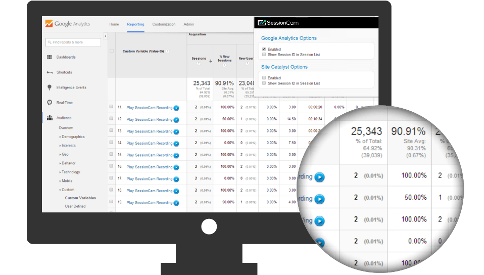 Google Analytics SessionCam Integration
