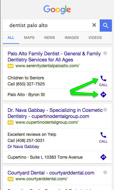 Screenshot of mobile search results on Google