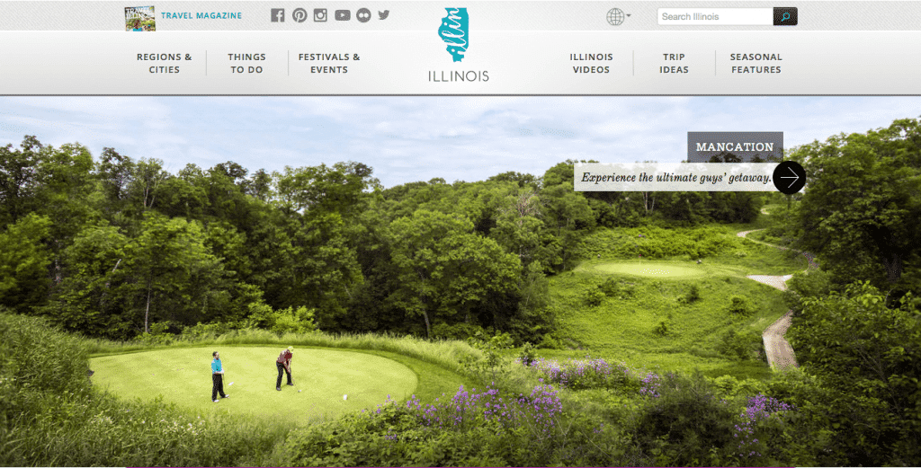 Enjoy illinois travel website screenshot