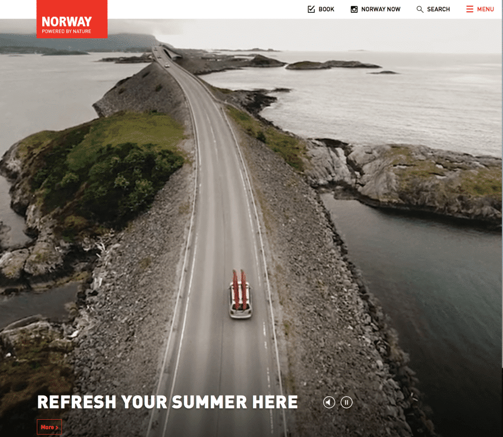 Visit Norway website