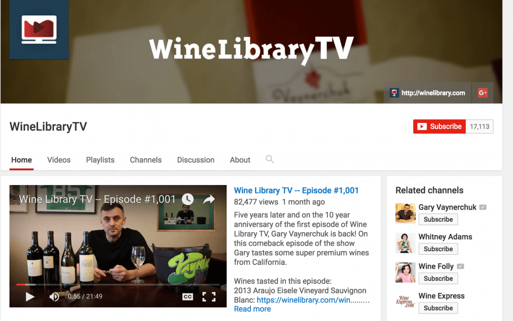 Wine library video
