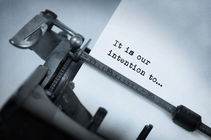 Close-up Of An Old Typewriter With Paper, Selective Focus, It Is Our Intention To