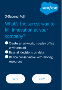 Example of poll from Salesforce
