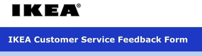 IKEA Customer Service Feedback Form