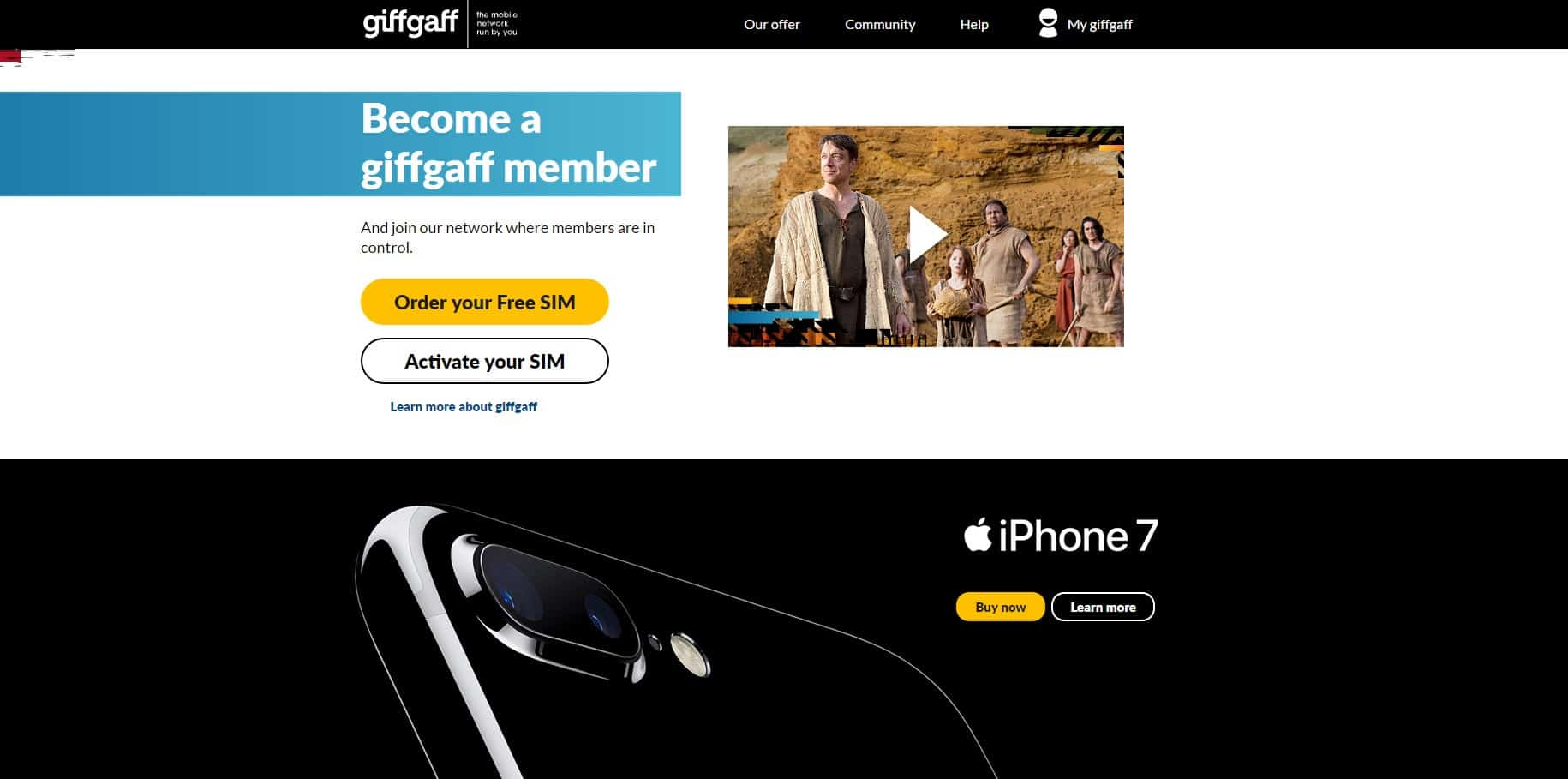 Giffgaff Join - Screenshot