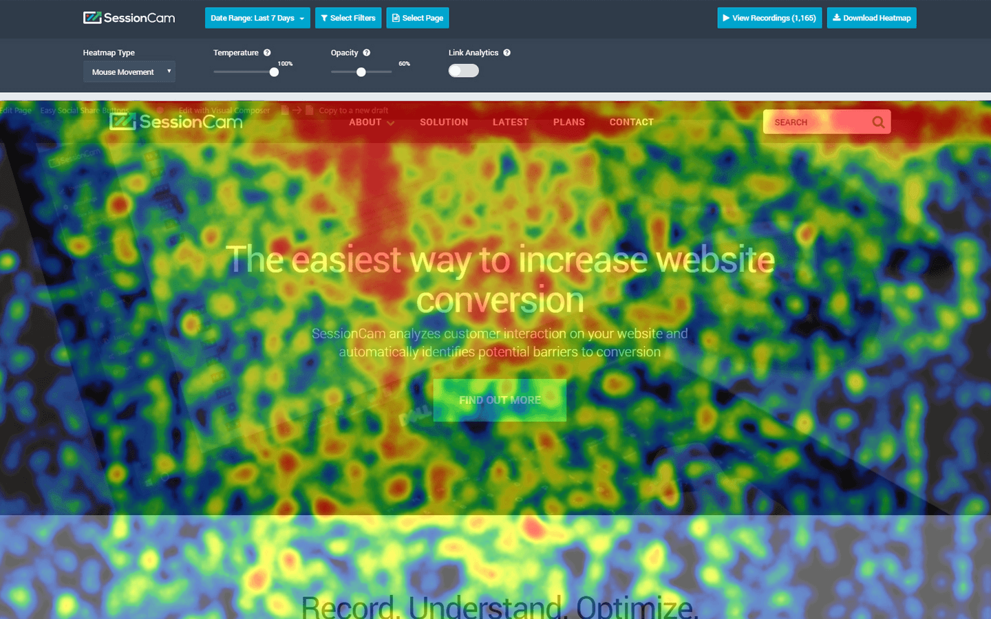The Most Por Types of Website Heatmaps | SessionCam Heat Maps For Websites on