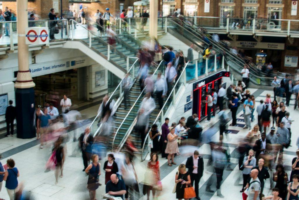 London Liverpool Street blur