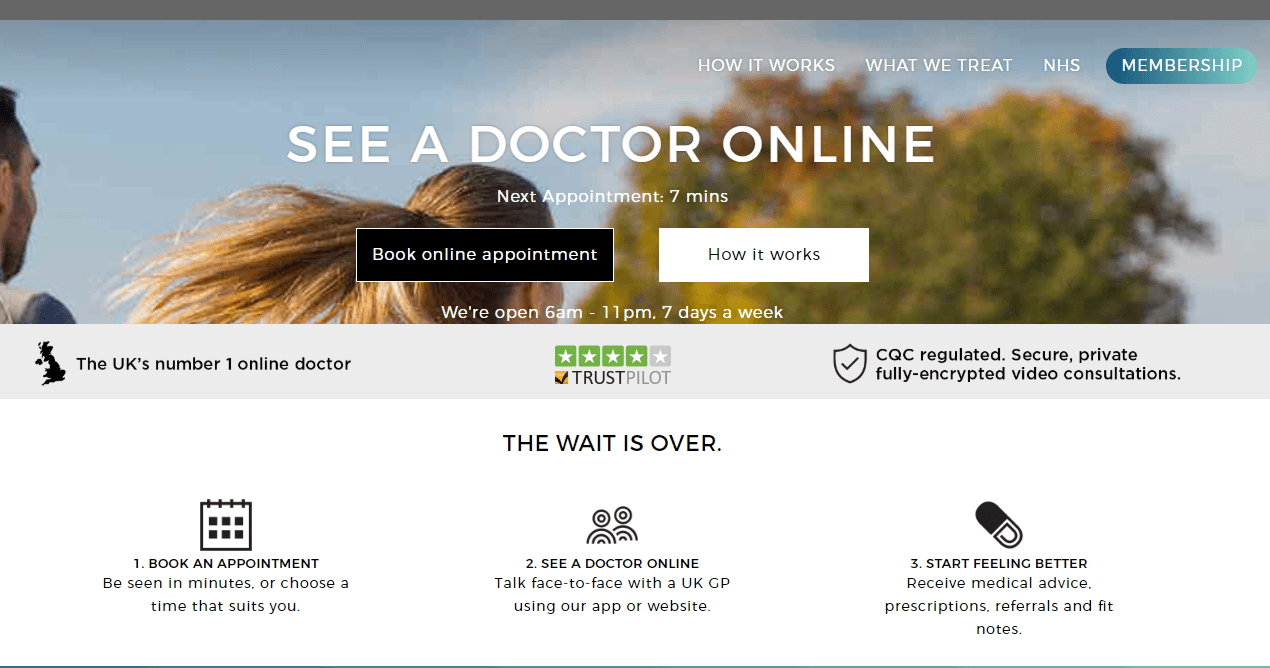 Push Doctor Home Page
