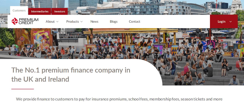 Premium Credit Home Page