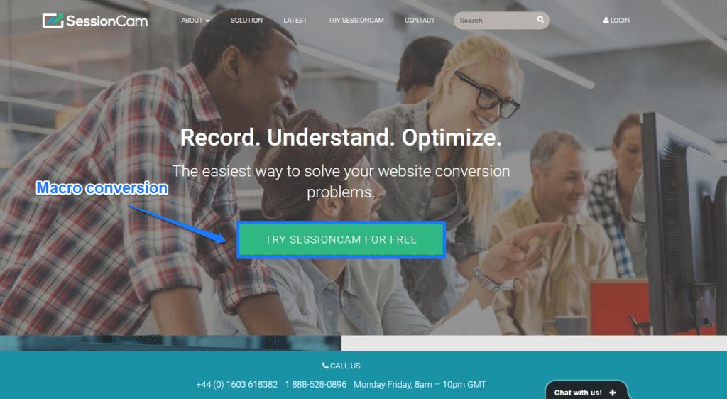 SessionCam Macro Conversion